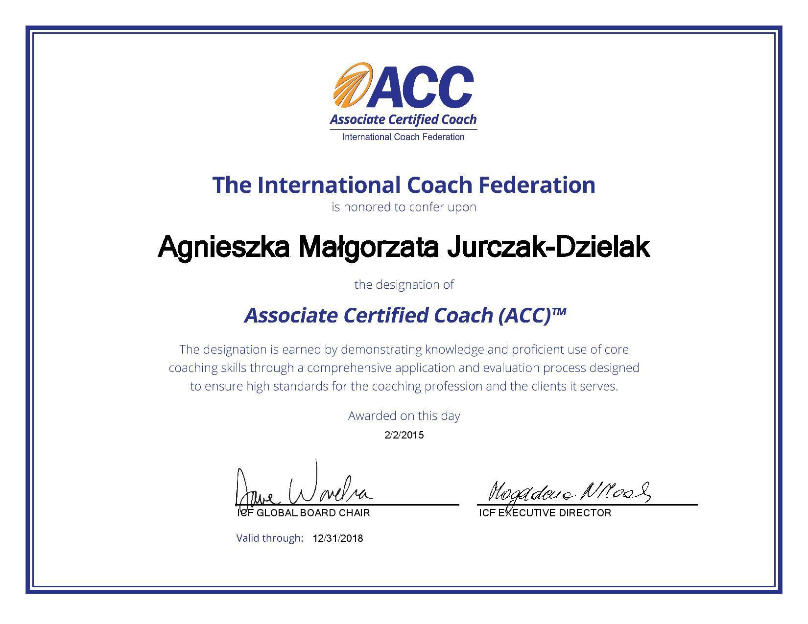 A.JURCZAK ICF Credential_Certificate